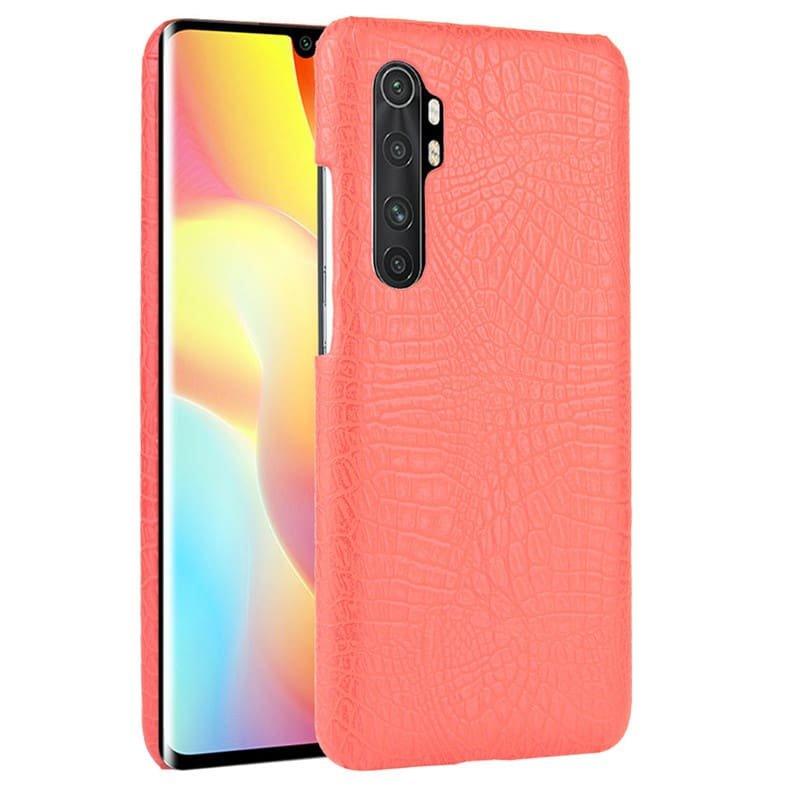 Funda Xiaomi Mi Note 10 Lite Cocodrilo Roja