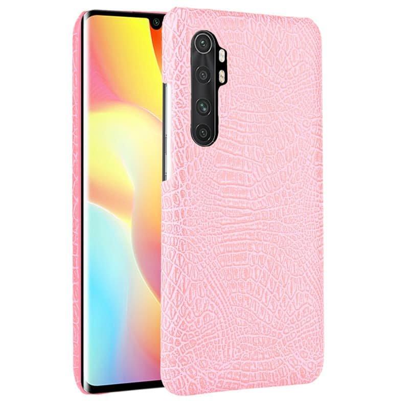 Funda Xiaomi Mi Note 10 Lite Cocodrilo Rosa