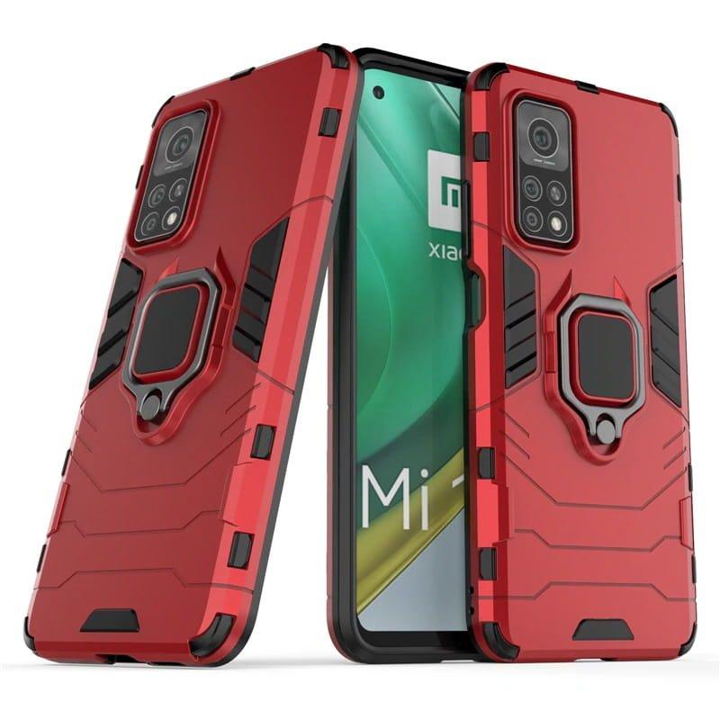 Funda Xiaomi Mi 10T y Mi 10T Pro Shock Resistante roja
