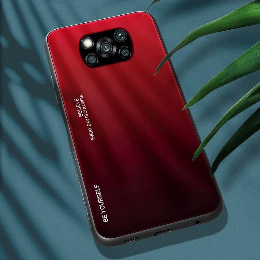 Funda Xiaomi Poco X3 Pro Silicona y cristal templado roja