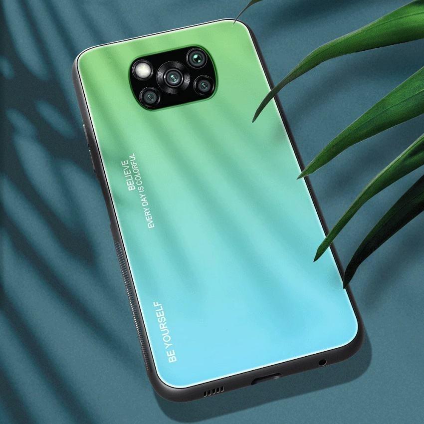 Funda Xiaomi Poco X3 Pro Silicona y cristal templado verde