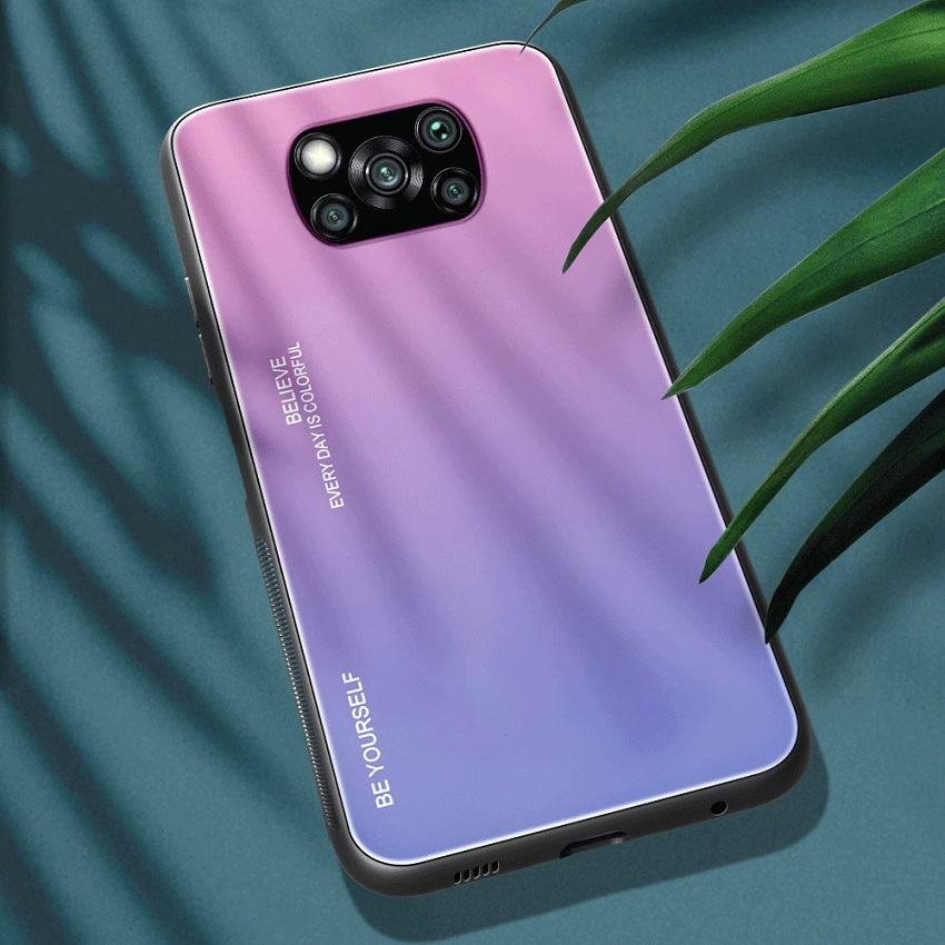 Funda Xiaomi Poco X3 Pro Silicona y cristal templado rosa