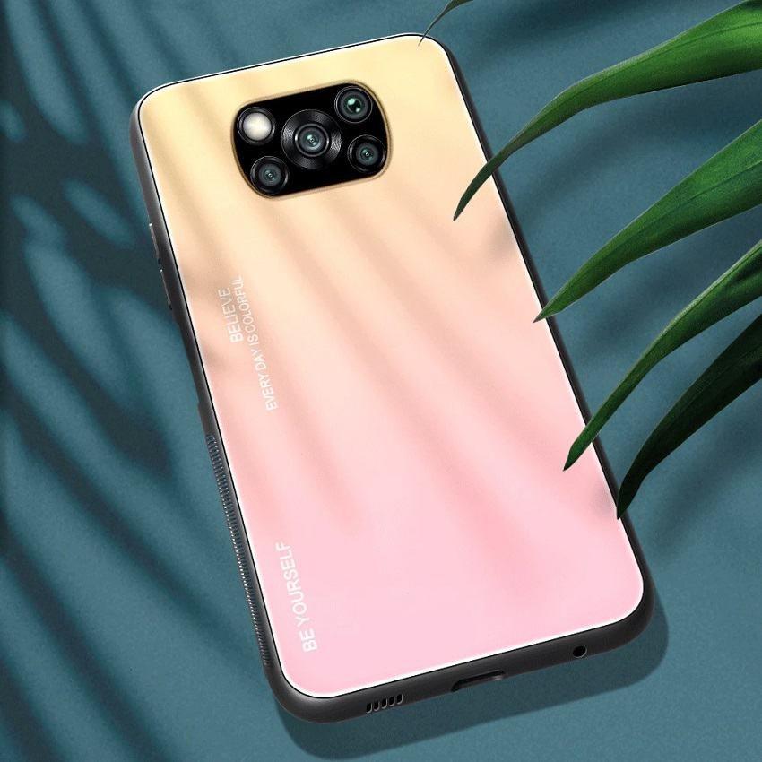Funda Xiaomi Poco X3 Pro Silicona y cristal templado amarilla