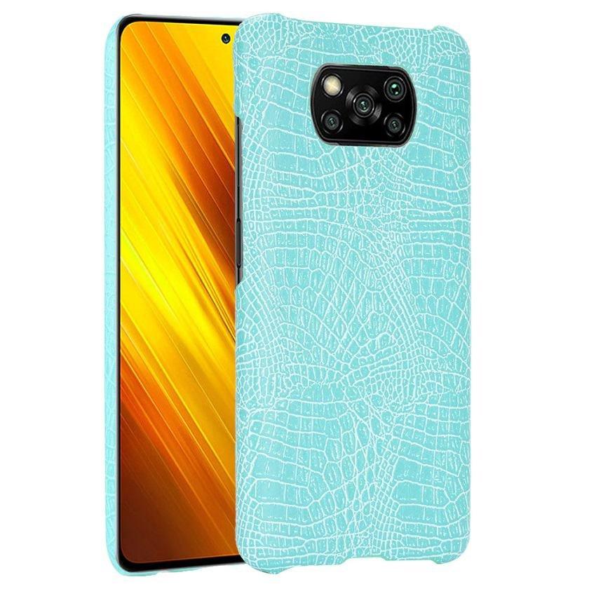 Carcasa Xiaomi Poco X3 Pro Cocodrilo turquesa
