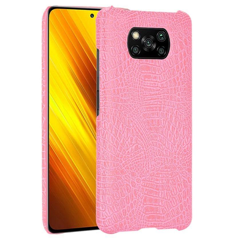 Carcasa Xiaomi Poco X3 Pro Cocodrilo rosa