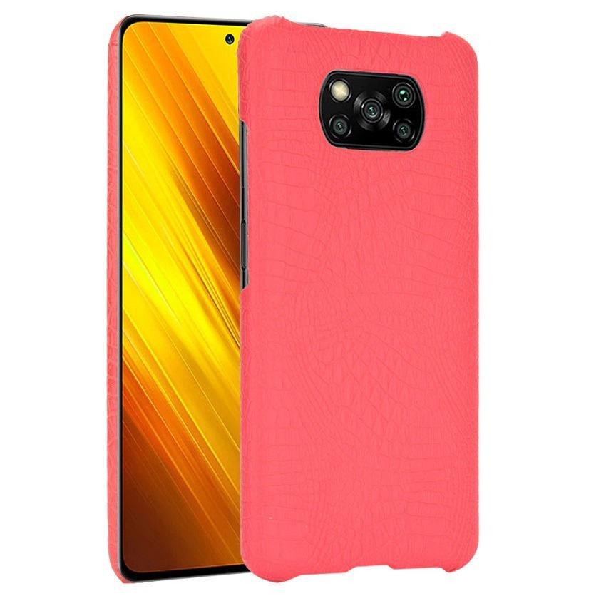 Carcasa Xiaomi Poco X3 Pro Cocodrilo roja