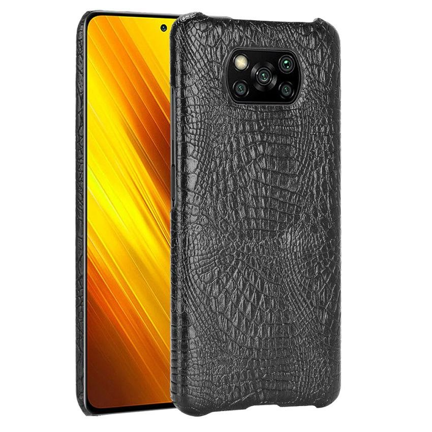 Carcasa Xiaomi Poco X3 Pro Cocodrilo negra