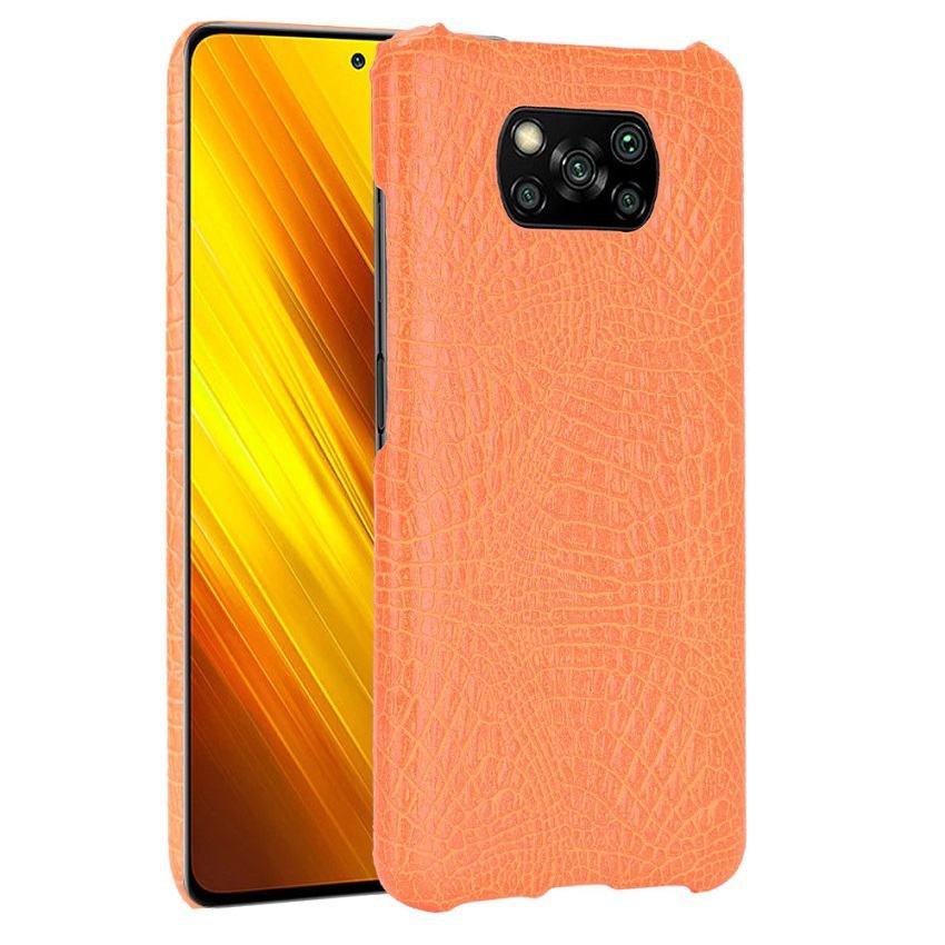 Carcasa Xiaomi Poco X3 Pro Cocodrilo naranja