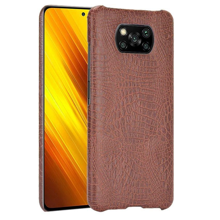 Carcasa Xiaomi Poco X3 Pro Cocodrilo marron