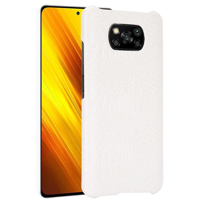 Carcasa Xiaomi Poco X3 Pro Cocodrilo blanca