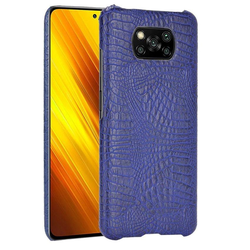 Carcasa Xiaomi Poco X3 Pro Cocodrilo azul
