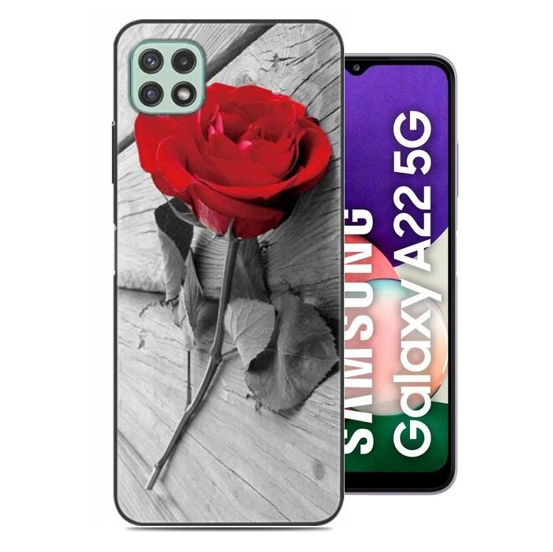 Carcasa flexible Samsung Galaxy A22 5G Rosa
