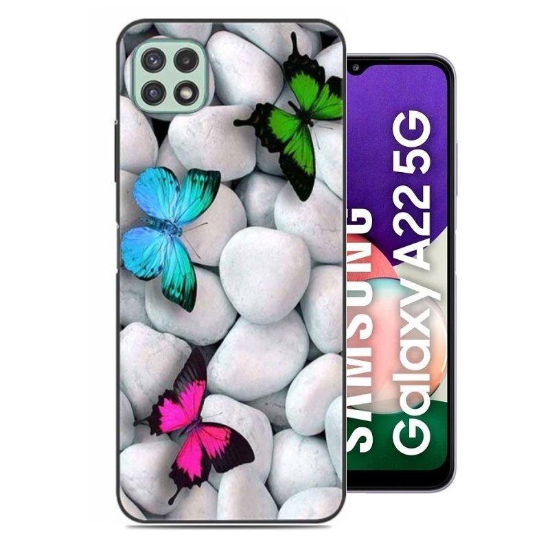 Carcasa flexible Samsung Galaxy A22 5G Mariposa