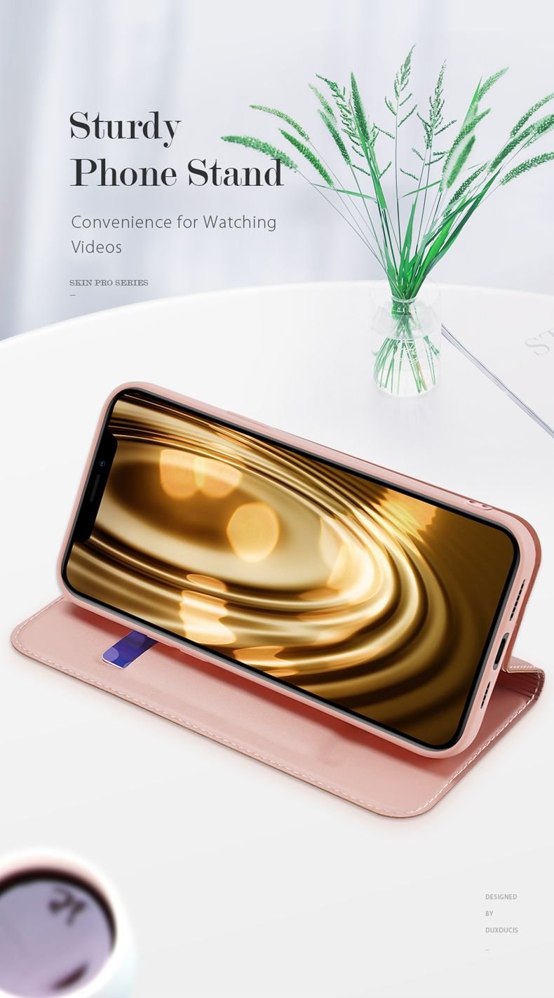 Estuche Cuero iPhone 13 Pro y Pro Max Libro Dux soporte