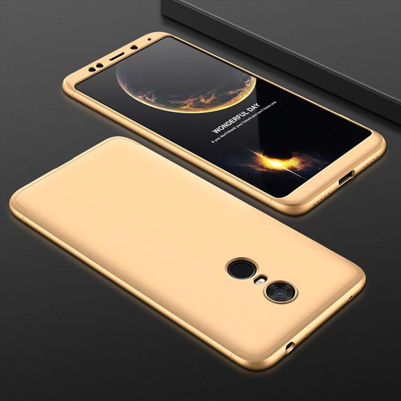 Funda 360 Xiaomi Redmi 5 Plus dorado
