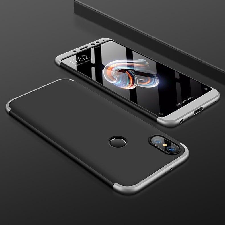 Funda 360 Xiaomi Redmi Note 5 negro y gris