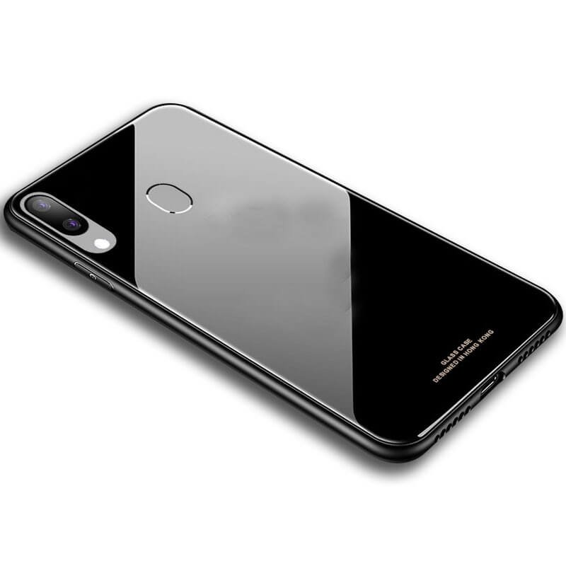 Carcasa Samsung Galaxy A40 Tpu Trasera Cristal Negra.