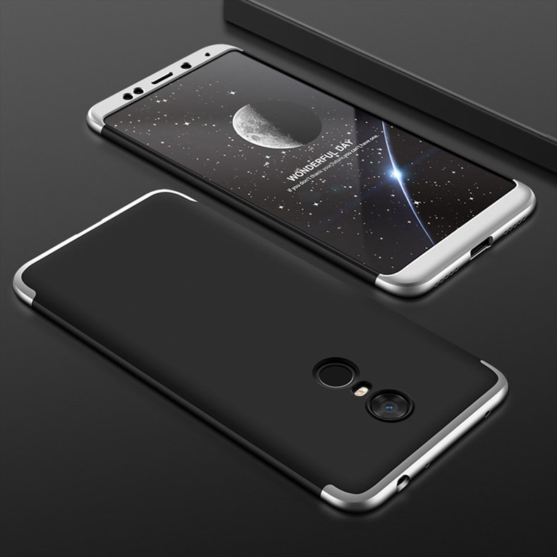 Funda 360 Xiaomi Redmi 5 Plus negro y gris