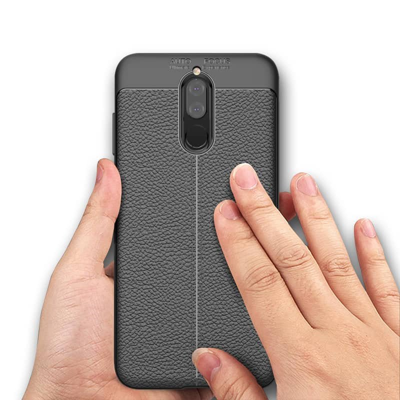 Funda Huawei Mate 10 Lite Tpu Cuero 3D Negra