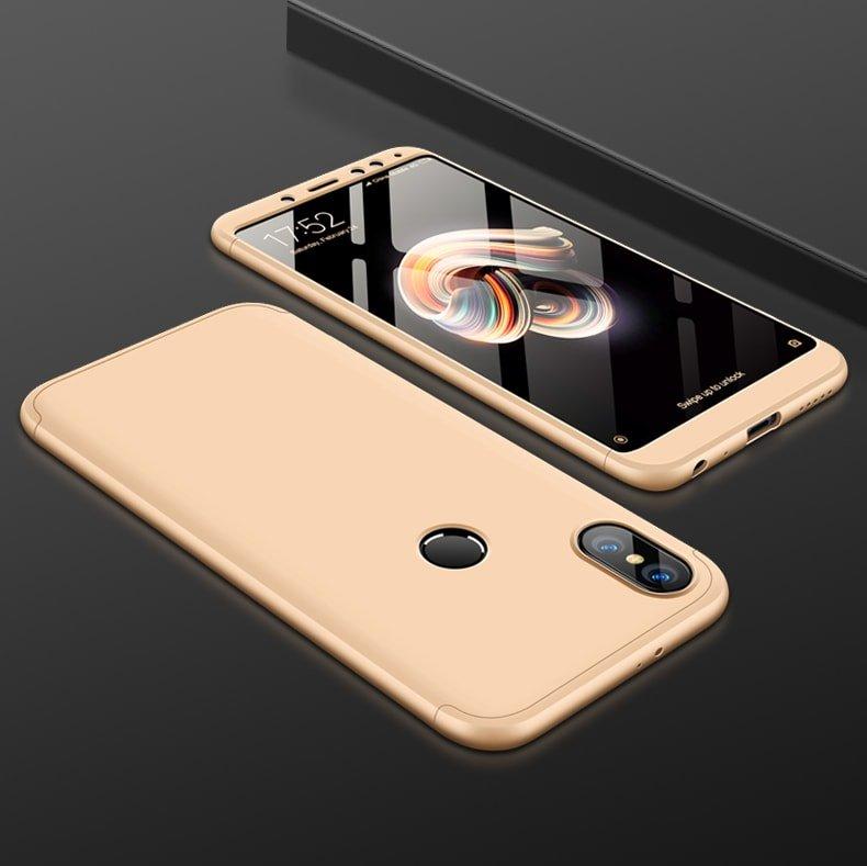 Funda 360 Xiaomi Redmi Note 5 dorado
